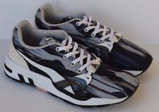 PUMA Trinomic Fast Graphic Black & Gray Running Athletic Shoes Womens 37.5 US 7