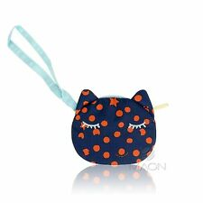 LeSportsac Tsumori Cat Wristlet Pouch in Cats Dots Navy