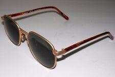 Vintage Marilyn Monroe Round Wire Frame Matte Gold Tortoise Sunglasses Glasses