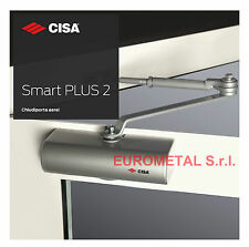 CISA CHIUDIPORTA AEREO SMART ( MAB ) C 1416 CON ARRESTO 80 KG  ARGENTO