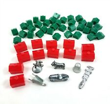 Vintage Monopoly Game Playing Pieces Tokens Hotels Houses Replacement Parts