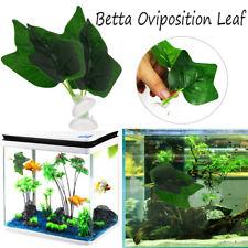 Betta Fish Tank Bowl Aquarium Betta Plant Resting Artificial 2 Leaf Pad