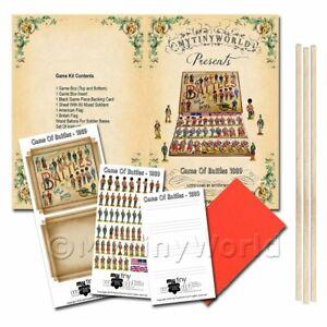 Maison de Poupées Miniature Jeu De Battles Board Jeu Kit
