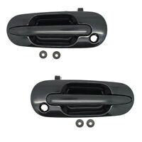 Outside Door Handles Pair Front Left Driver Smooth Black Right Passenger