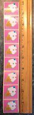 8 Vintage 1983 SANRIO Hello Kitty Mini Ice Cream Cone Sticker Strip~Retired~.99