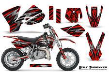 KTM SX50 2002-2008 CREATORX GRAPHICS KIT DECALS BOLT THROWER RED