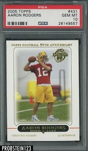 2005 Topps #431 Aaron Rodgers Green Bay Packers RC Rookie PSA 10 GEM MINT