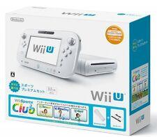 Nintendo Wii U Sports premium set Console White Internet compatible USED