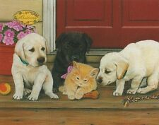 Julie Bauknecht Cats Rule Kitten Puppy 100 pc Bagged Boxless Jigsaw Puzzle