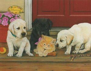 Julie Bauknecht Cats Rule Kitten Puppy 100 pc Bagged Boxless Jigsaw Puzzle