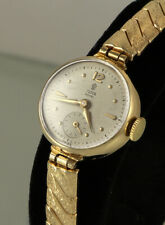 9k SOLID GOLD Rolex Tudor Ladies Watch, Very Good Cond., 17 Rubies, 9ct (1250)
