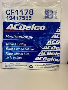 OEM ACDelco CF1178 Cabin Air Filter 10-15 Chevrolet Camaro