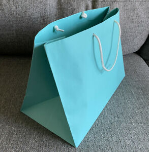 "Authentic Tiffany & Co Blue Paper Shopping Gift Bag 11"" x 15"""