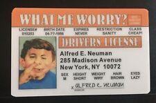 Alfred E Neuman MAD Magazine Drivers License Joke National Lampoon ID card