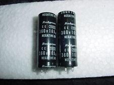 Qty 2 New RUBYCON Photo Flash Capacitor 360v 165UF 360 v Negative 200002-002