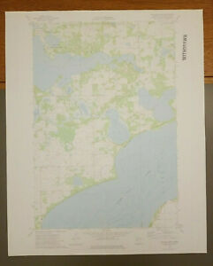 "Walker Lake, Minnesota Original Vintage 1973 USGS Topo Map 27"" x 22"""