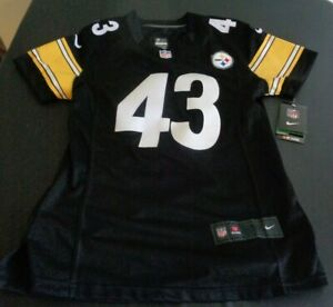 TROY POLAMALU Pittsburgh STEELERS Football NIKE Sewn Womens LARGE Jersey NFL New