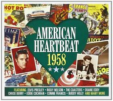 American Heartbeat 1958 2-CD NEW SEALED Buddy Holly/Chuck Berry/Eddie Cochran+