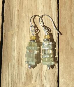 NEW: Sundance Catalog inspired gemstone tier drop earrings: aquamarine & sapphir