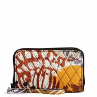"Vera Bradley RFID Grab & Go Wristlet in ""Painted Feathers"""
