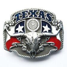 Texas Longhorn State Flags Metal Fashion Belt Buckle