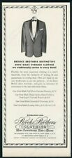 1961 Brooks Brothers men's dinner jacket vintage fashion print ad