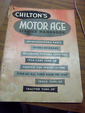 1951-1954 CHILTON SERVICE BOOK~TUNE-UP~WIRING DIAGRAM~CHEVY~FORD~HUDSON~WILLYS