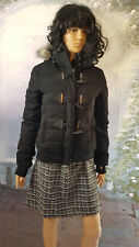 Womens Superdry Microfibre Toggle Puffle Jacket Black Size Small