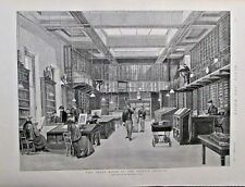 The Print Room At The British Museum, w/text, Vintage 1893 Antique Art Print