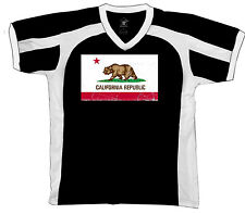 California Republic Bear Grizzly Mountain Forest Retro Sport T-shirt
