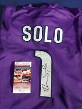 HOPE SOLO Autographed/Signed  Purple Team USA Soccer Jersey JSA COA Auto