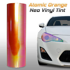 "12""x12"" Chameleon Neo Orange Headlight Fog Light Taillight Vinyl Tint Film (a)"