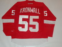 NIKLAS KRONWALL SIGNED RED WINGS 2008 STANLEY CUP JERSEY LICENSED JSA COA