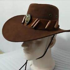 Overwatch McCree Cowboy Hat + Copper Badge Cosplay Cap Props Mens Accessories