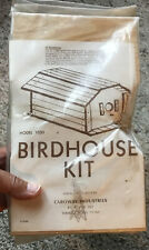 Vintage Wood Birdhouse Kit #1030 Caroway Industries Made in USA New Old Stock