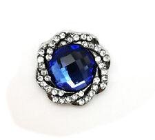 3D Crystal Chunk Charm Snap Button Fit For Noosa Necklace/Bracelet  NSKZ11