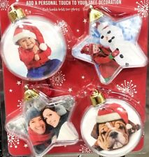 Christmas Baubles Create Your Own Photo Tree Decoration (Stars + Balls)