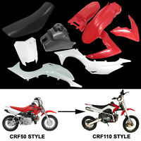 For CRF50 Plastics Fairing Fender Kit for 50cc 70cc 90cc 125 Thumpstar Pit bike