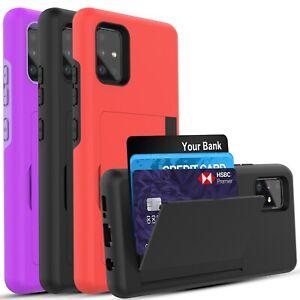 Samsung Galaxy A51 (5G) Case, Wallet Card Holder Case + Screen Protector