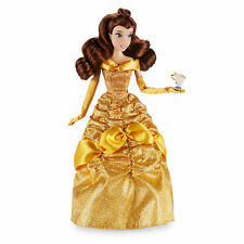 """2016 Disney Store Classic Belle with Chip 12"""" Doll Beauty and the Beast"""