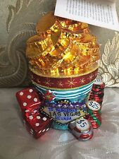 "Christopher Radko Las Vegas Christmas Ornament-""High Rollers""."