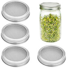 4Pcs Stainless Steel Sprouting Lids Seed Sprouting For 87Mm Wide Mouth Mason Jar