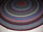 "Vintage Antique Hand Made Circle Wool  Braided Rug 7' 6"" Diameter"