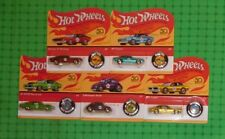2018 Hot Wheels 50th Anniversary -  Redline Replica complete set of 5 Unpunched