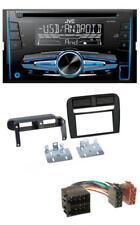 JVC MP3 USB CD 2DIN AUX Autoradio für Fiat Grande Punto 2005-2009 schwarz