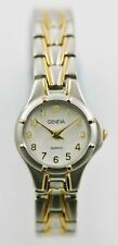 Geneva Watch Womens Stainless Silver Gold Steel Water Res Battery White Quartz