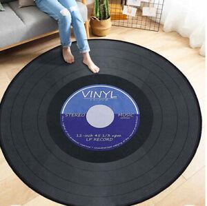 2020 round carpet carpet 3D vinyl record printed carpet floor mat home