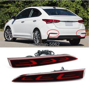 For Hyundai Accent 2018-2020 Rear Bumper decoration lamp led brake light 2PCS