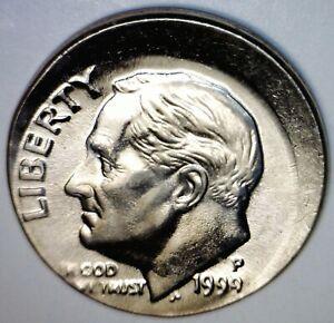 1999 Off Center ERROR Roosevelt Dime SUPER NICE CH/ GEM BU Coin O/C Lot #1  NR