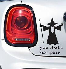 You Shall Not Pass Gandalf car bumper/window vinyl/decal/sticker